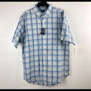 Arrow Men's Casual Shirt Short Sleeve Plaid Shirt
